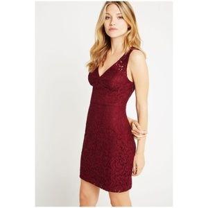 BCBGENERATION Brulee Red Lace Cocktail Dress sz 10